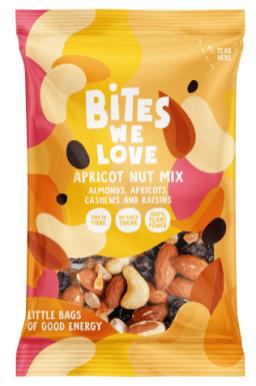 Bites we love Aprikosen-Nuss-Mischung mit Mandeln-Cashews-Rosinen