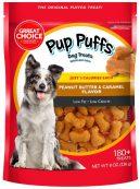 Great Choice Pup Puffs Dog Treat Peanut Butter+Caramel Flavor