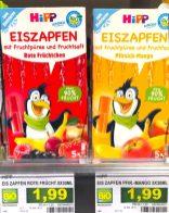 Hipp Eiszapfen Rote Früchtchen und Pfirsich-Mango Wassereis