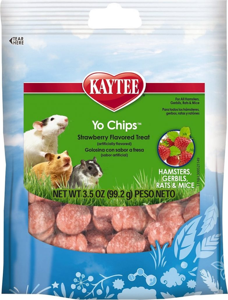 Kaytee Yo Chips Strawbery Flavored Treat Hamsters Gerbils Rats+Mice