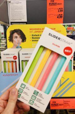 Lidl Slider Straw Silikon-Dauer-Strohhalme zum Auseinandernehmen