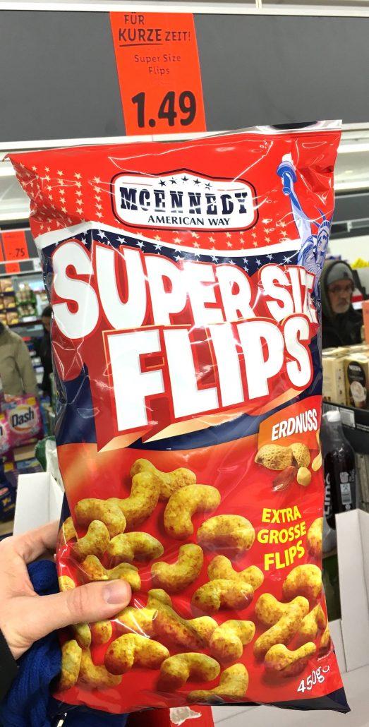 Lidl Super Size Erdnuss Flips 450 Gramm