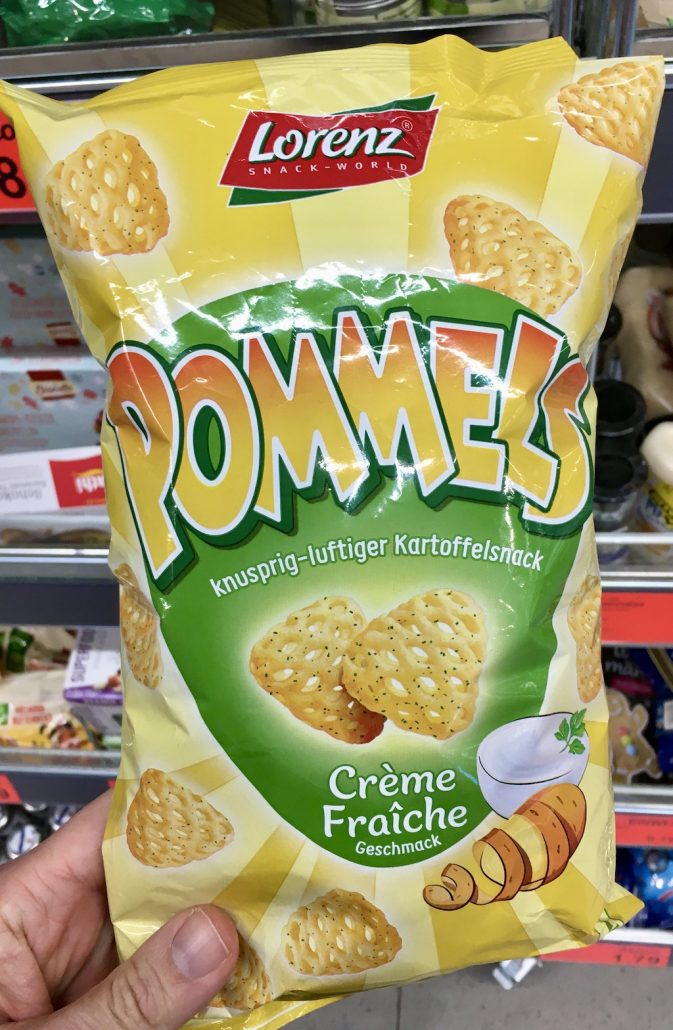 Lorenz Pommels Kartoffelsnack Créme Fraiche Geschmack