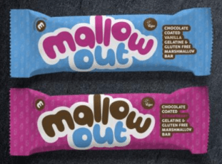 Mallow out Marshmallowriegel mit Schokoüberzug Vanille und Erdbeere ohne Gelatine glutenfrei
