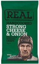 Real Handcooked Crisps Strong Cheese+Onion