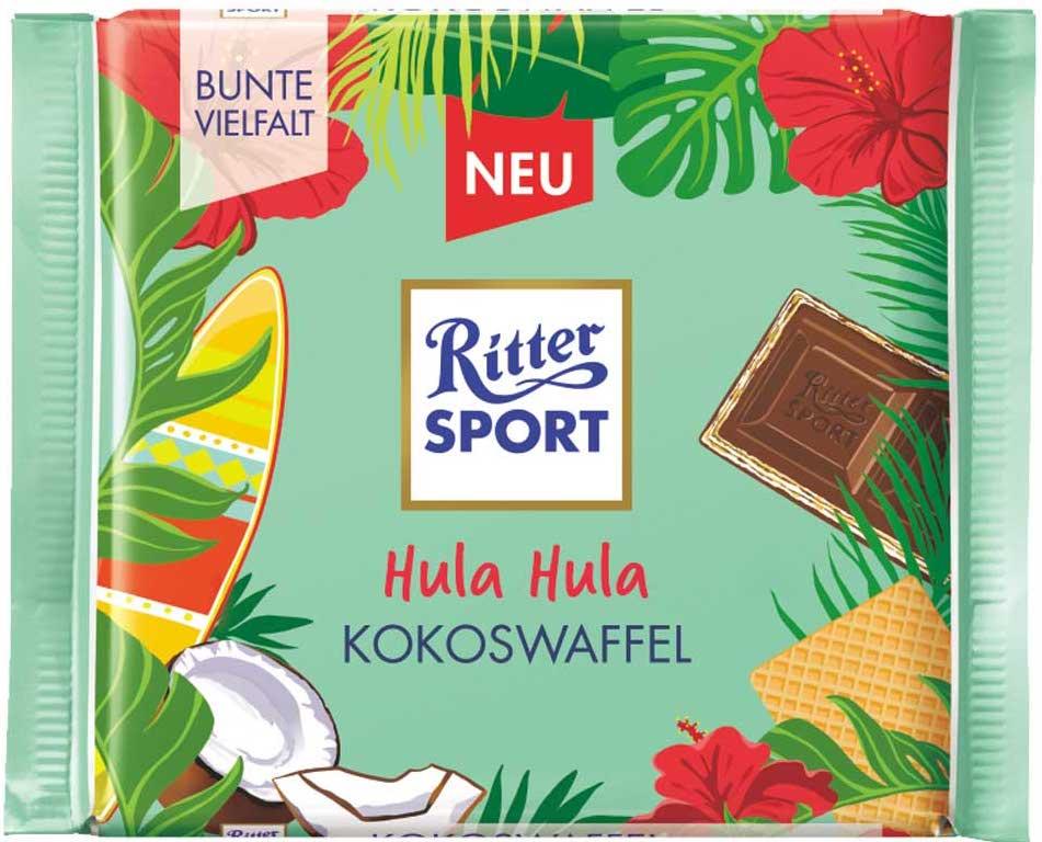 Ritter Sport Hula Hula Kokoswaffel-100g