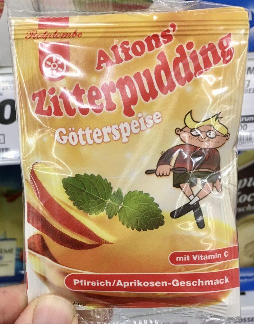 Rotplombe Alfons Zitterpuding Götterspeise Pfirsich-Aprikose-Geschmack mit Vitamin C