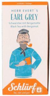 Schlürf Tee Herr Evert's Earl Grey Zeichnung