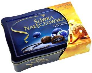 Solidarnosc Sliwka Naleczowska Schokoladenfplaume Schmuckdose Weihnachten