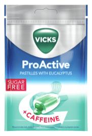 Vicks ProActive Pastilles with Eucalyptus+Caffeine Sugarfree