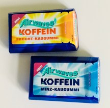Wrigley's Airwaves Koffein Frucht-Kaugummi und Minz-Kaugummi