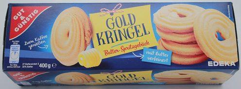 Gut+Günstig Goldkringel Butter-Spritzgebäck 400 Gramm