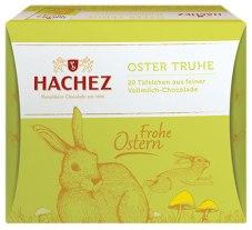 Hachez Oster Truhe 20 Täfelchen aus Vollmilch-Schokolade Frohe Ostern