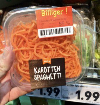 Kaufland Karotten-Spaghetti