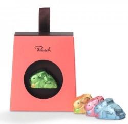 Ostersüßigkeiten 2020 Rausch Schokoosterhase Rosa Verpackung