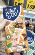 Lidl FinCarré Way togo! Salted Caramel Vollmilchschokolade Kuapa Kokoo Papa Paa Siegel Fairtrade 100% physisch rückverfolgbarer kakao aus Ghana