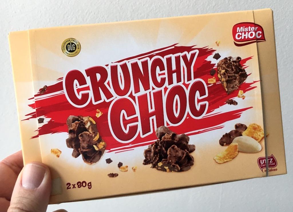 Lidl Mister Choc Crunchy Choc 2 x 80 Gramm Hergestellt von Stollwerk