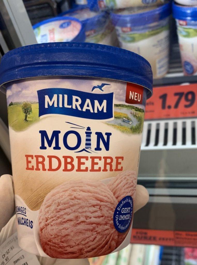 Milram Moin Erdbeere Milcheis Pint