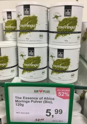 The Essence of Africa Moringa Pulver Bio 120 Gramm