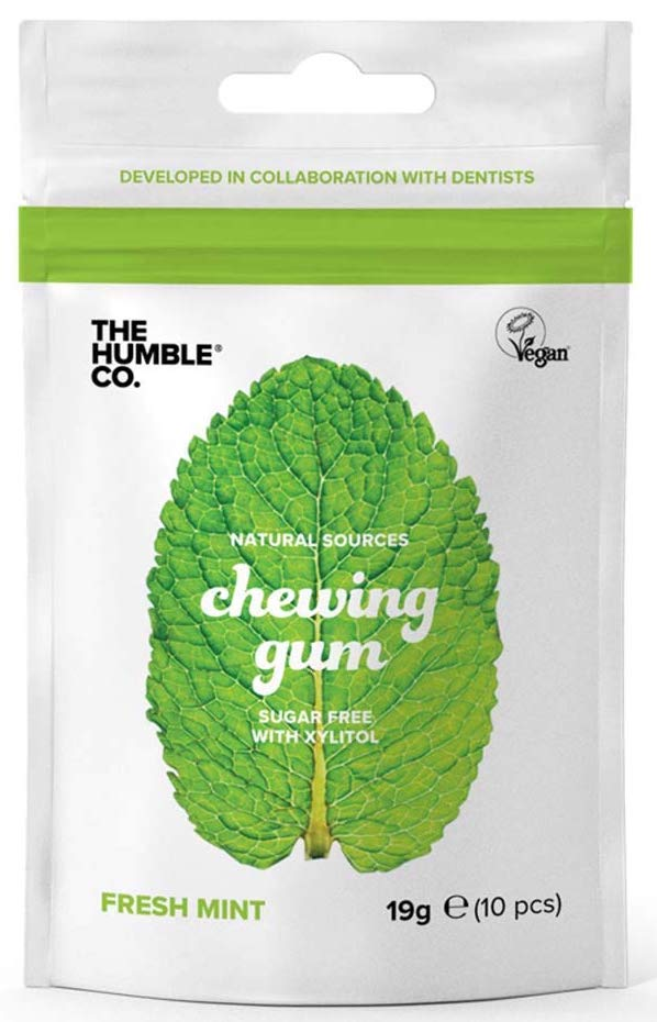 The Humble Co Natural Sources chewing Gum Sugar free with Xylitol Fresh Mint 19 Gramm 10 Stück