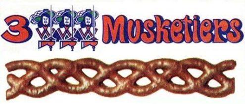 """Das Konkurrenzprodukt zu Curly Wurly kam von Mars und hieß in Deutschland """"3 Musketiere"""". In den USA hieß es dagegen """"Marathon""""."""
