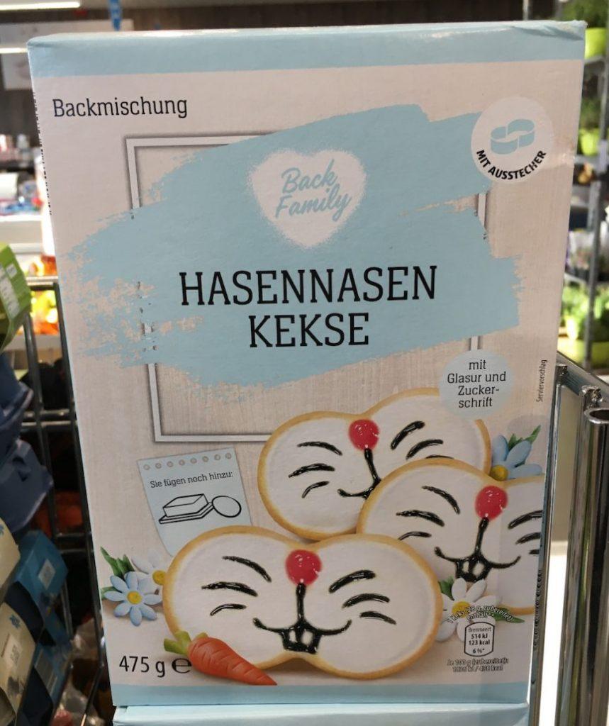 Aldi Back Family Hasennasen-Kekse Backmischung 475G