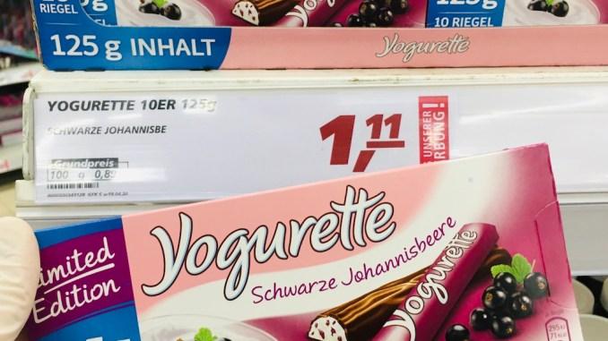 Ferrero Yogurette Schwarze Johannisbeere 125G