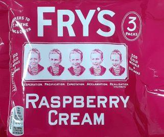 Fry's Raspberry Cream Chocolate Bar