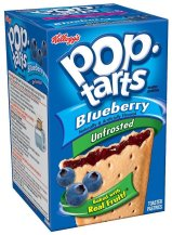 Kellogg's pop tarts Blueberry unfrosted