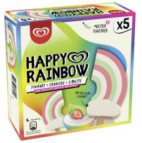 Langnese Happy Rainbow Joghurt-Erdbeere-Limette Eiskrem 5er