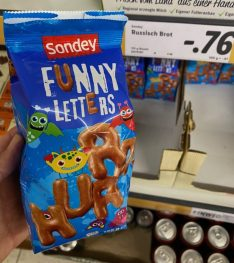 Lidl Sondey Funny Letters Russisch Brot 125G
