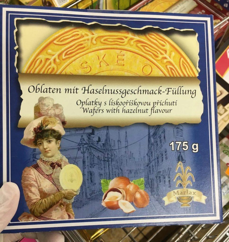 Marlax Karlsbader-Oblaten mit Haselnussgeschmack-Füllung 175G