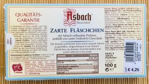 Reber Asbach Pralinen Zarte Fläschen Packungsrückseite UVP