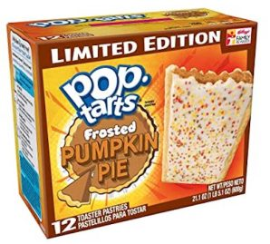 pop tarts Frosted Pumpkin Pie Limited Edition