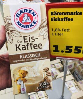 Bärenmarke Der Eiskaffee Klassisch abgerundet mit Vanillegeschmack 1L Tetra