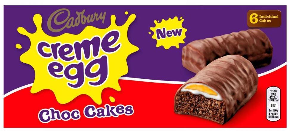 Cadbury Creme Egg Choc Cakes 6er