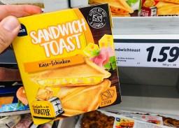 Chef Select Sandwich Toast Käse-Schinken für den Toaster 2er