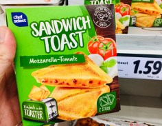 Chef Select Sandwich Toast Mozzarella-Tomate für den Toaster 2er
