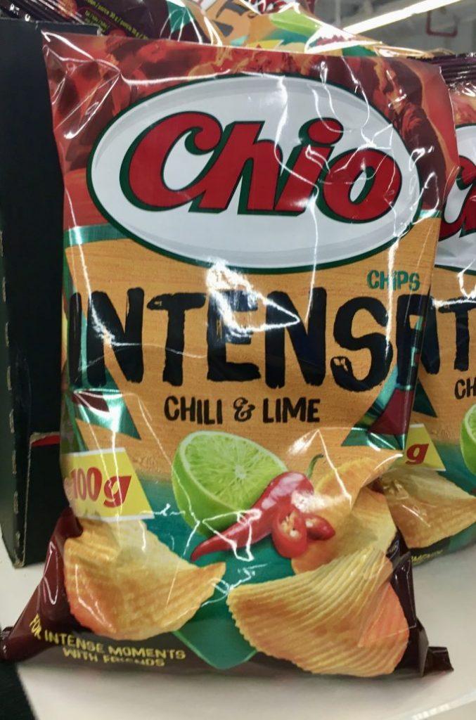 Chio Intensa Chili+Lime 100G für 23,9 Tschechische Kronen, umgerechnet nur 0,88 Euro