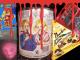 Collage Design des Grauens Hälich verpackte Süßigkeiten