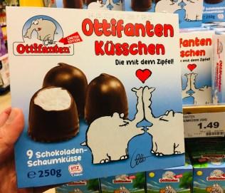 Grabower 9 Schokoladenschaumküsse Ottos Ottifanten Küsschen 250G