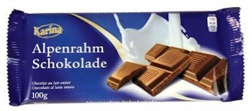Karina Alpenrahm-Schokolade 100g