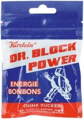 Kirstein Dr Block Power Energie Bonbons ohne Zucker mit Guarana-Koffein-Taurin-Kräutern-Menthol