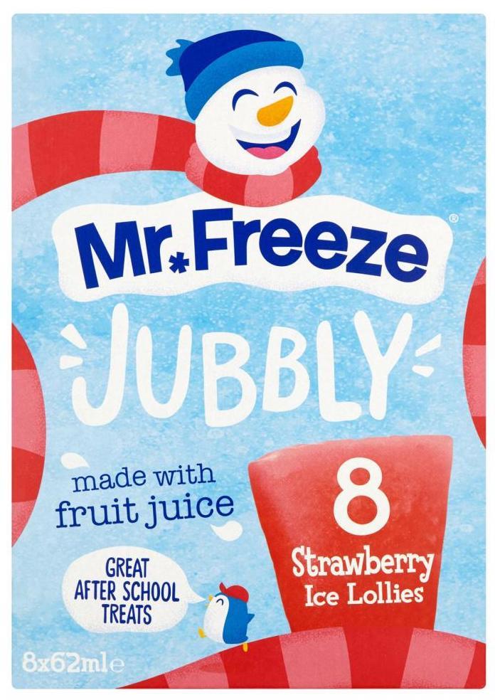 Mr. Freeze Jubbly Ice lolly Strawberry Eissticks 8x62ml