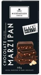 Niederegger Marzipan Black+White Tafelschokolade 110G