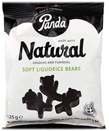 Panda Natural soft liquorice bears 125G