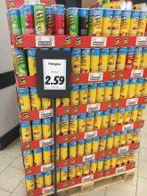 Pringles POS-Display Lidl kurz vor Silvester 2019