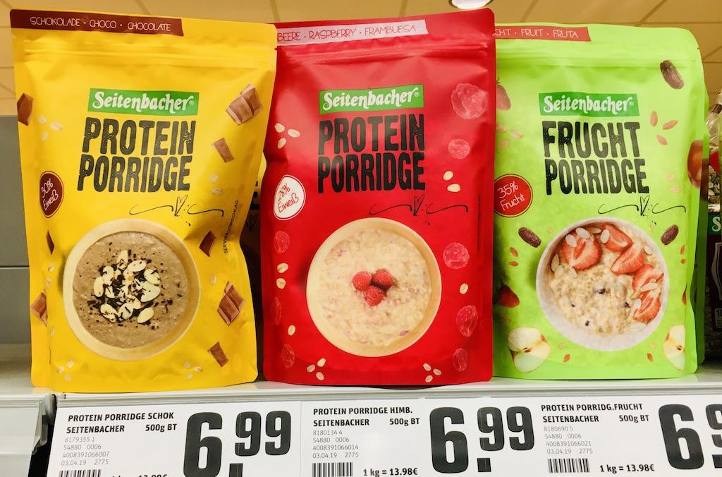 Seitenbacher Protein Porridge Schokolade-Himbeere-Frucht