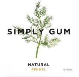 Simply Gum Natural Chewing Gum Fennel Fenchel 15 Stück