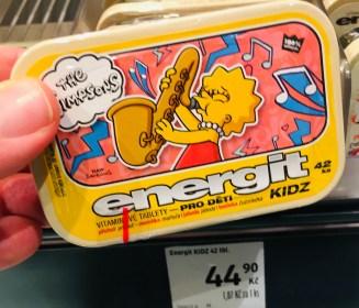 The Simpsons energit Vitamintabletten Tschechien KIDZ